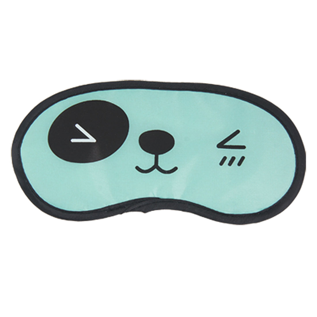 2 Pcs Blue Black Panda Facial Expression Pattern Eye Mask Cover for Travel Relaxation