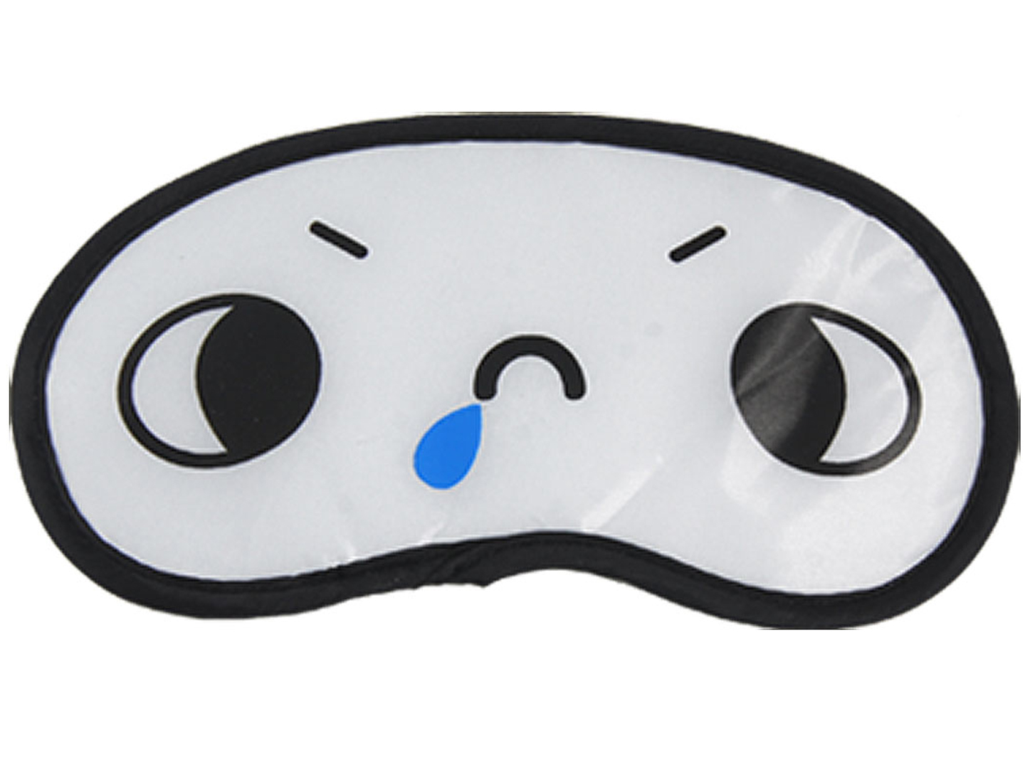 2 Pcs White Cartoon Crosseyes Pattern Sleeping Eye Cover Mask Eyeshade