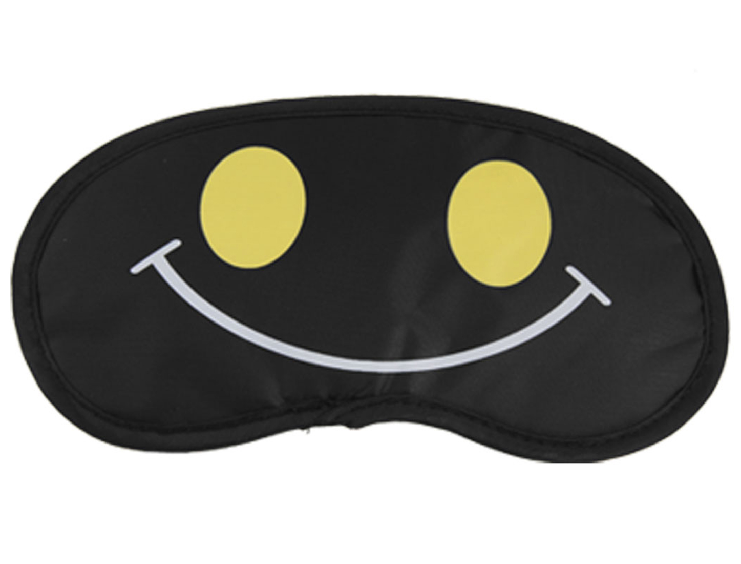 2 Pcs Black Smiling Facial Expression Pattern Sleep Eye Mask Protector Eyepatch