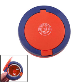 Home Office Plastic Metal Round Cigarette Ash Holder Ashtray