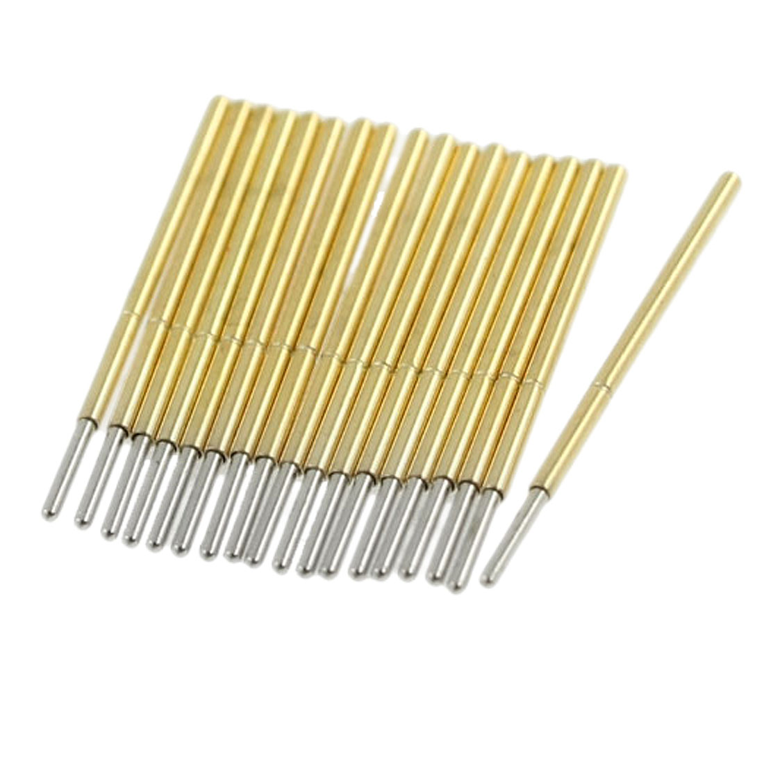 100 Pcs 0.9mm Diameter Round Tip Spring Testing Probe Pins