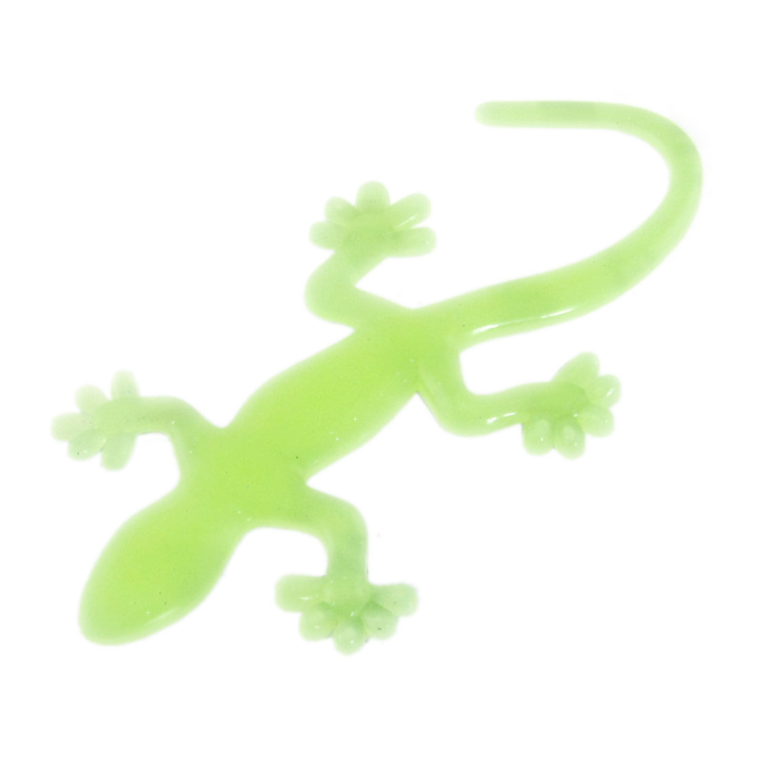 Yellow Hard Plastic Gecko Shape Glow in Dark Luminous Sticker Decor