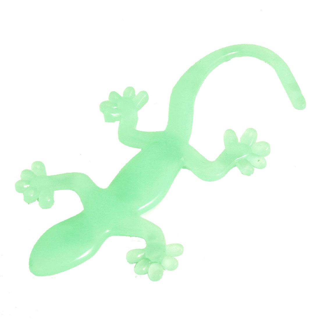 Hard Plastic Wall Gecko Shape Glow in Dark Luminous Sticker