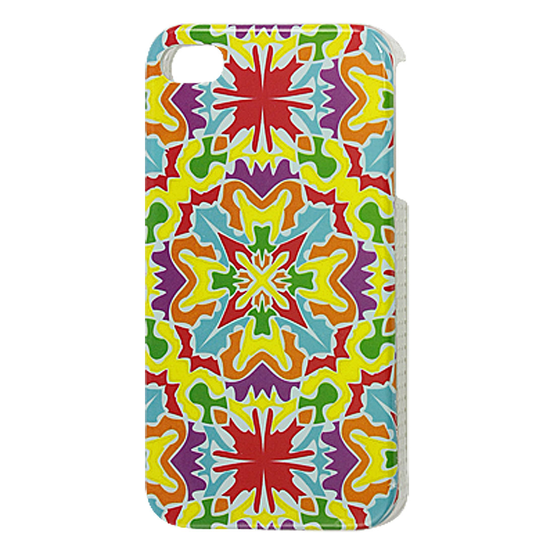 IMD Colorful Floral Pattern Plastic Back Cover Case for iPhone 4 4G 4S