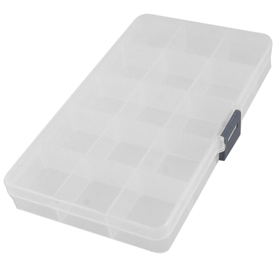 Clear White Plastic Mini Electronic Components Storage Case Organizer