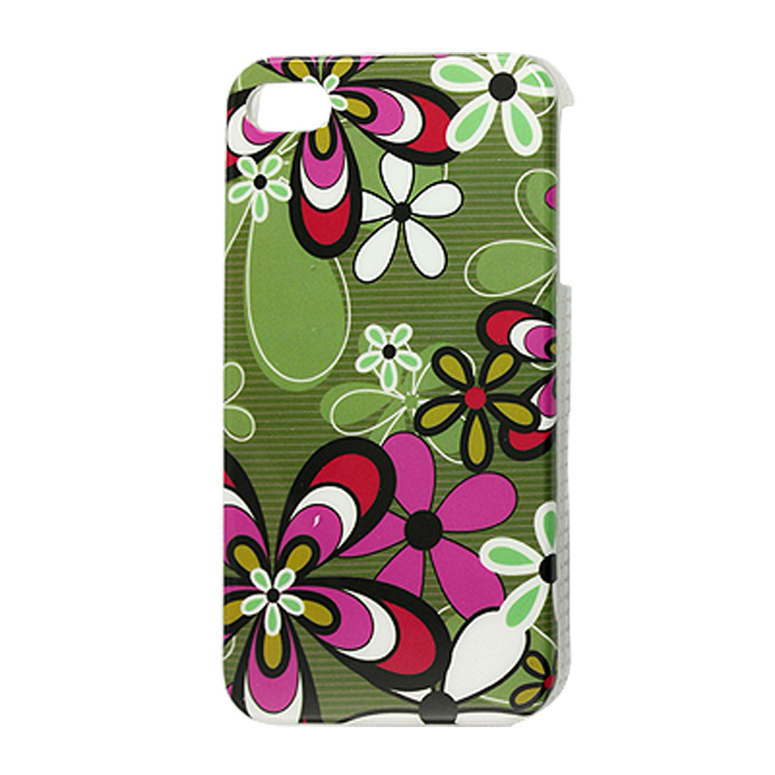 Protective Hard Plastic Colorful Flower IMD Back Case for iPhone 4 4G 4S