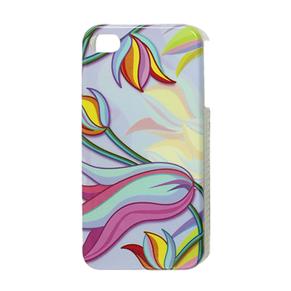 Multi Color Flower Hard Plastic IMD Back Case for iPhone 4 4G 4S