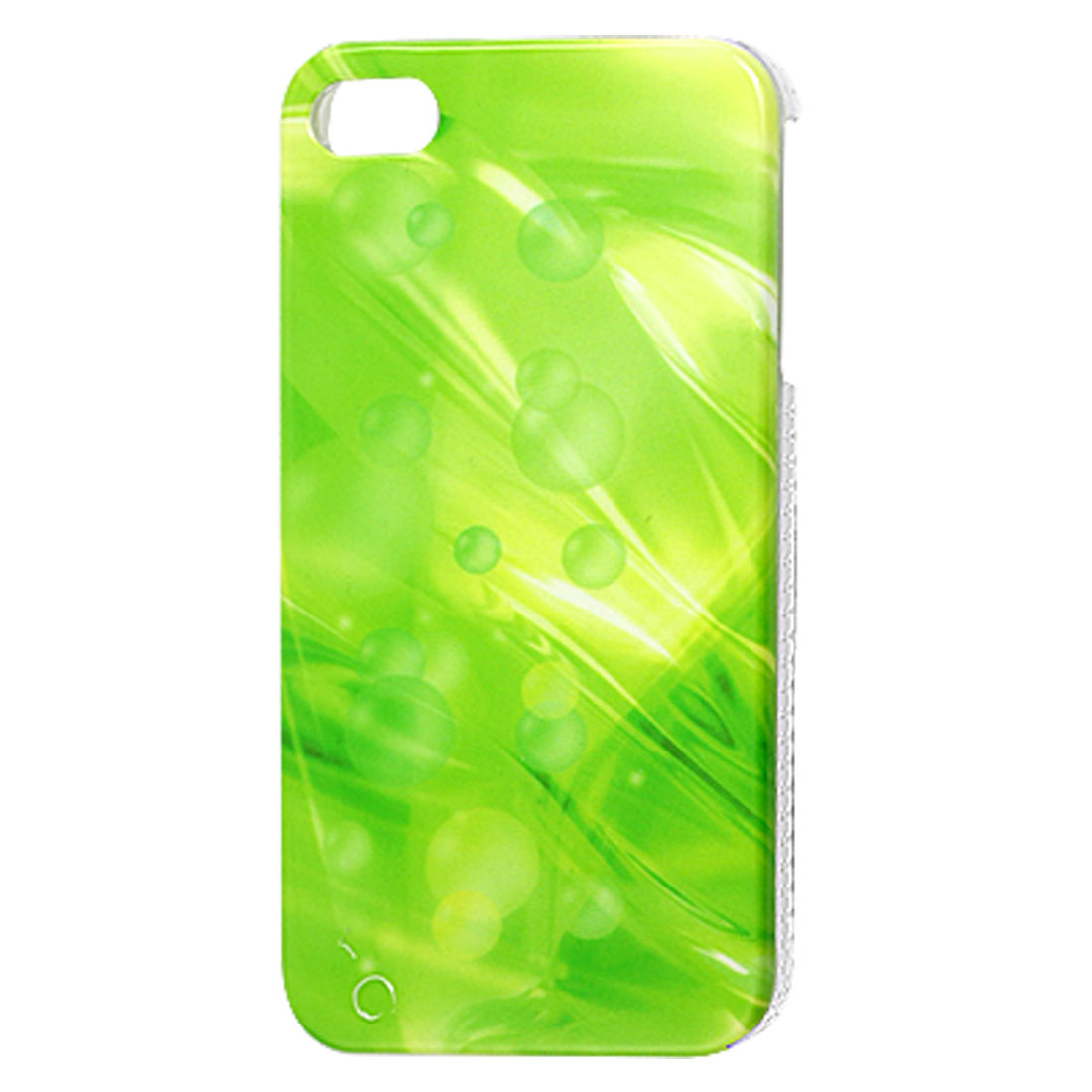 Bubble Pattern Green Hard Plastic IMD Back Case for iPhone 4 4G 4S