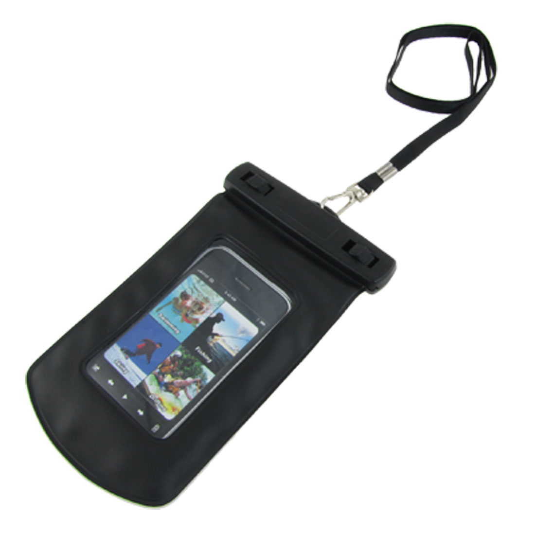 Waterproof Black PVC Plastic Pouch + Lanyard + Armband for iPhone 3G 3GS