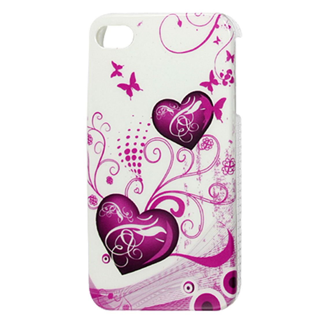 Amaranth Heart IMD Hard Plastic Back Case Cover for iPhone 4 4G 4S