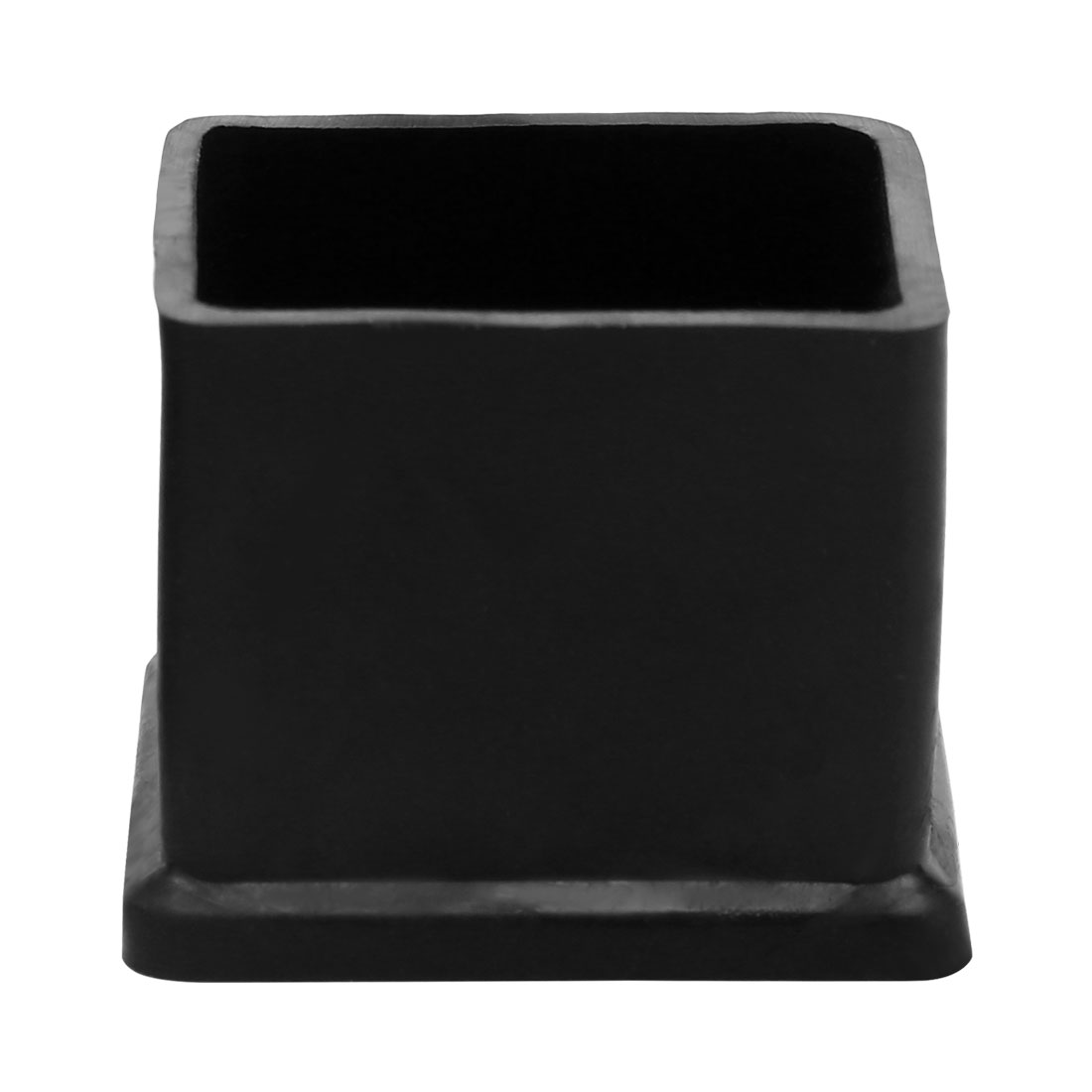 "Furniture Black Rubber 1 1/4"" x 1 1/4"" Square Leg Protector Table Foot Cover"