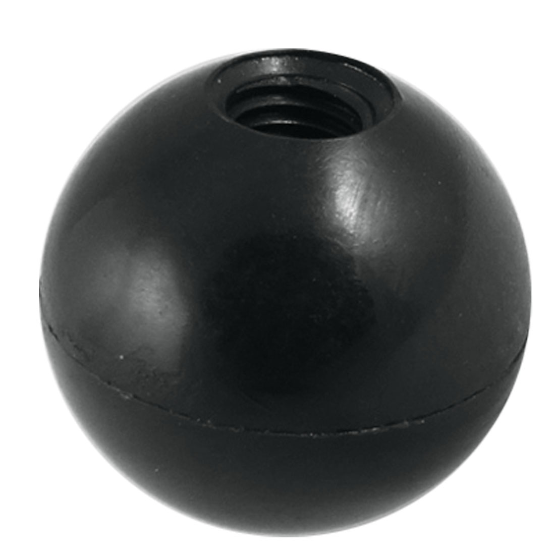 Black Plastic 10mm Threaded 40mm Diameter Ball Knob Handle