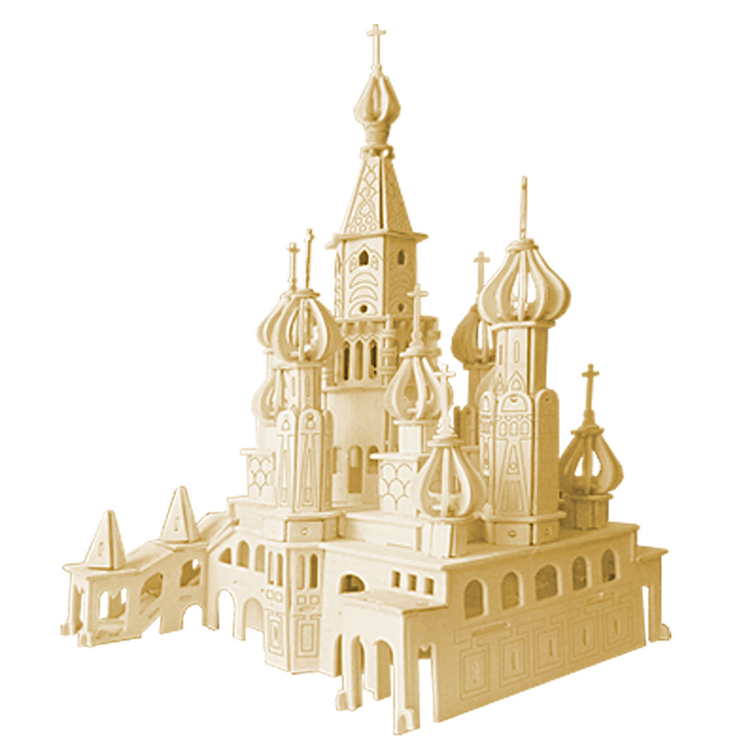 DIY Educational ST Petersburg Church Model Woodcraft Construction Kit 3D Puzzle Toy for Kids