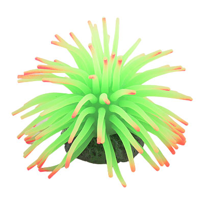 Green Soft Silicone Coral Shaped Sea Urchin Decor for Aquarium Fish Tank
