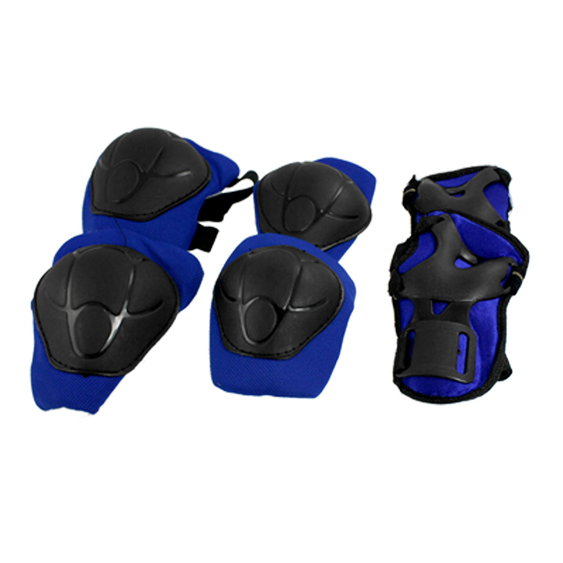 Child Skating Knee Elbow Wrist Protective Guard Pad Set Blue Black
