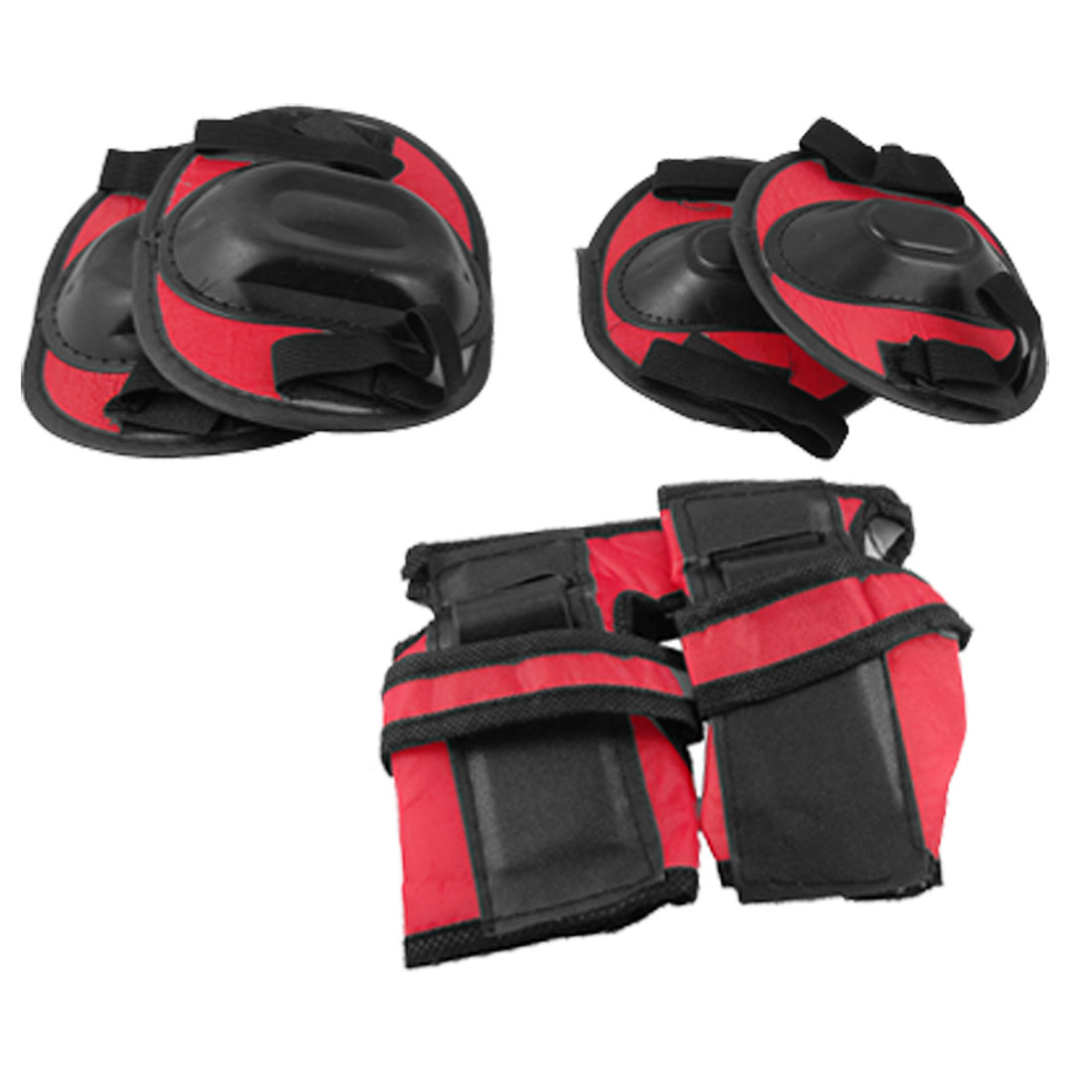 Children Plastic Cover Skating Elbow Knee Wrist Support Protector Red Black