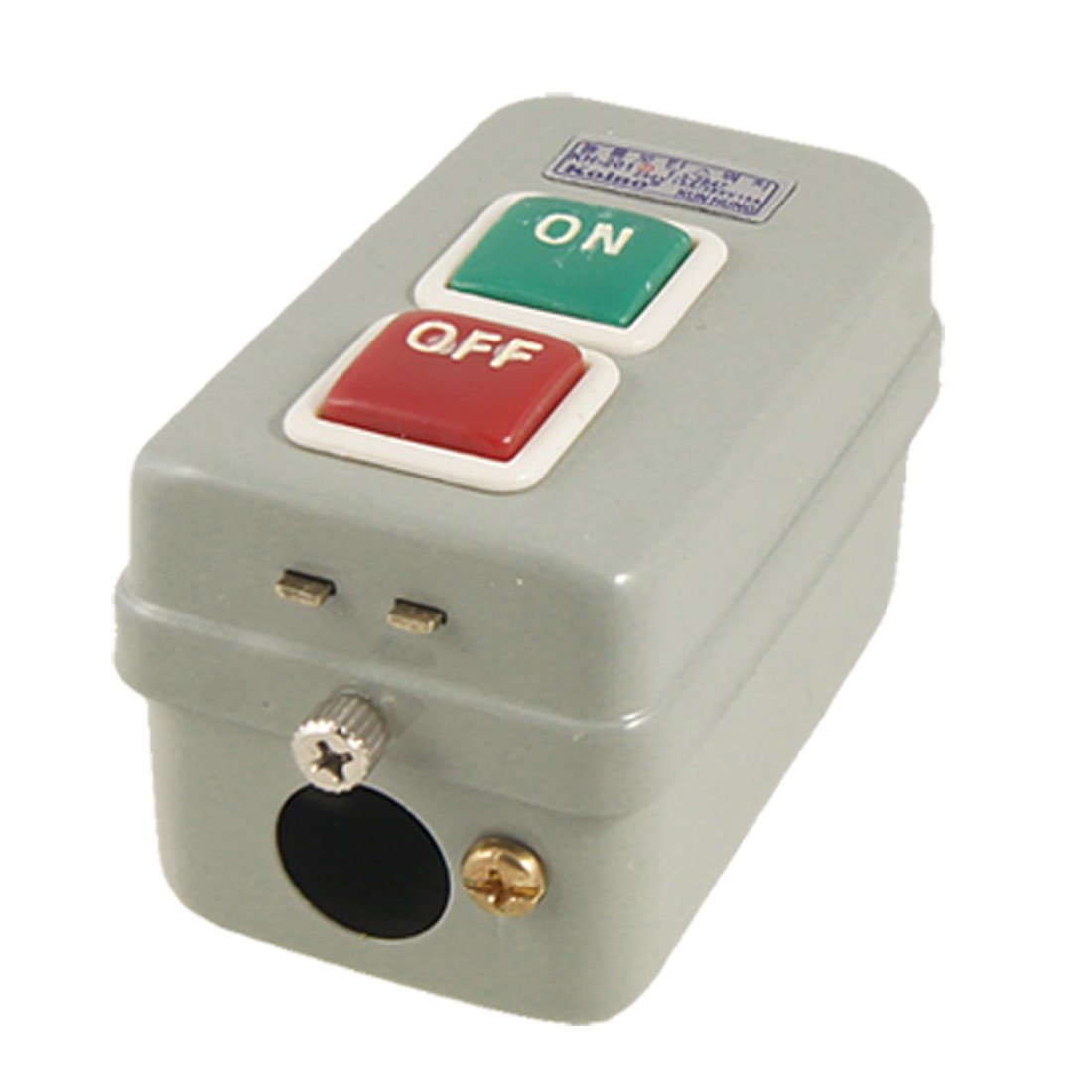 3P 250VAC 15A 380VAC On/Off Self Locking Power Pushbutton Switch KH-201