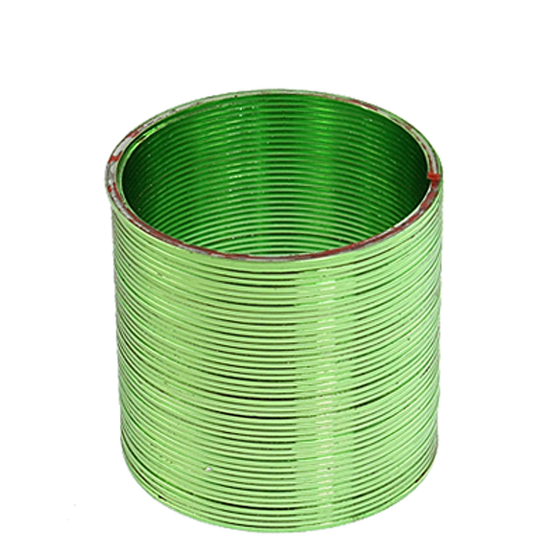 "Green Red Magic 2.6"" Dia Metallic Plastic Rainbow Coil Spring Toy"