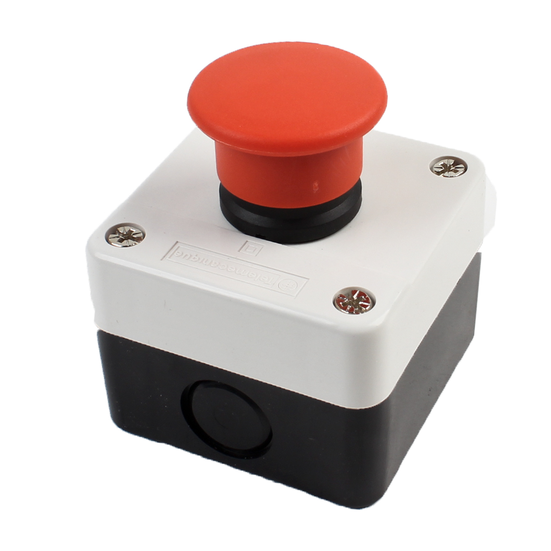Latching NC Red Mushroom Cap Push Button Switch Station Box