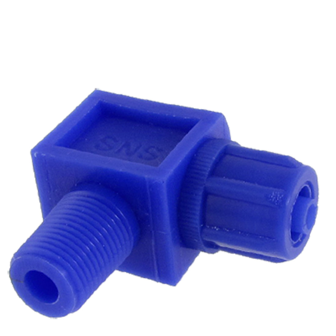 "25/64"" Male Thread Dia L Shaped Connector Type Blue Pneumatic Plastic Fitting"