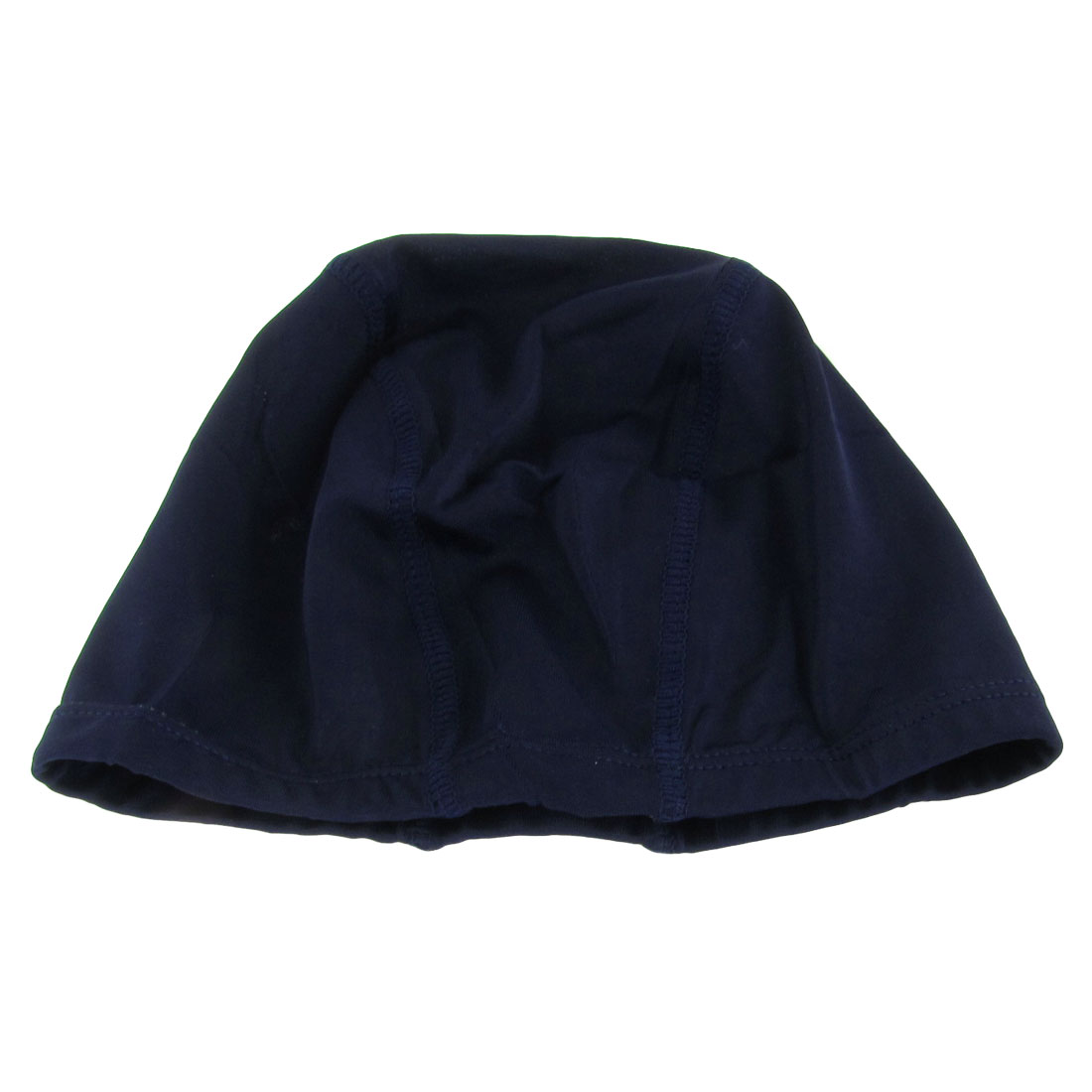 Adults Sporty Polyester Elastic Fiber Stretchy Dome Shape Swim Cap Dark Blue