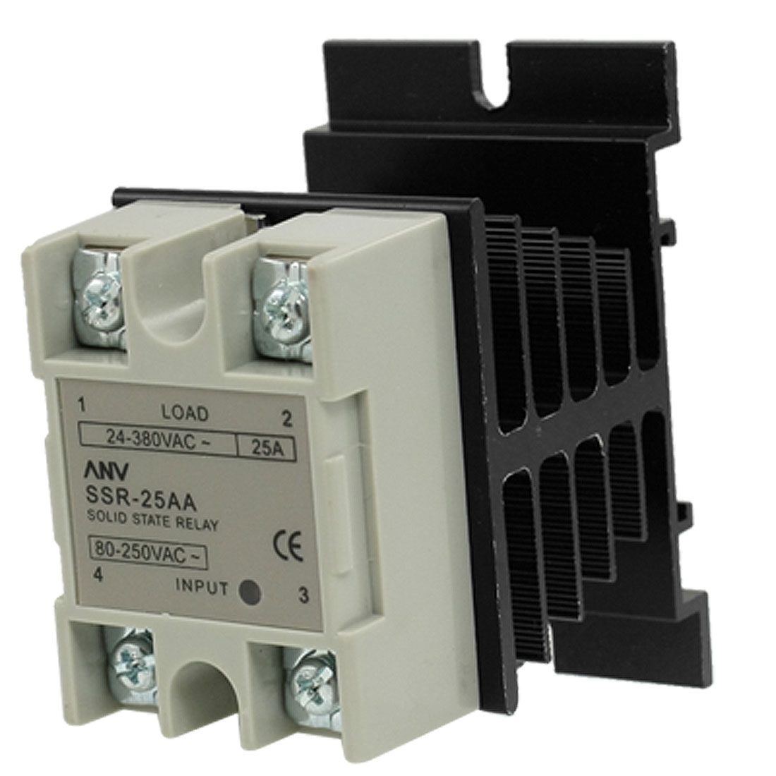 25A AA Solid state relay SSR AC 80-250V control 24-380V + Heat Sink