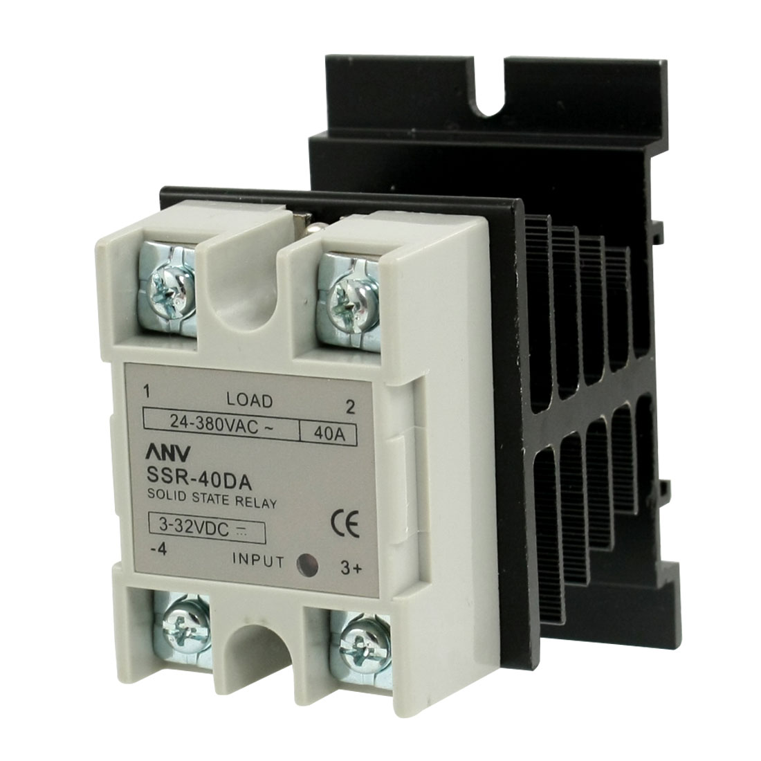 SSR-40 DA Single Phase Solid State Relay SSR 40A 3-32V DC 24-380V AC w Heat Sink