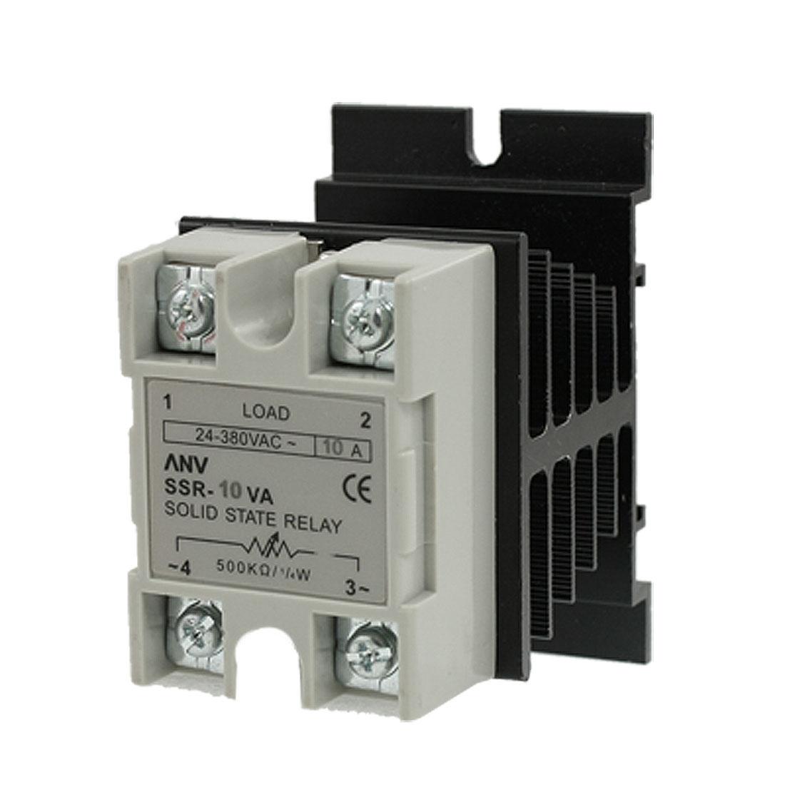 SSR Solid State Relay Voltage Resistance Regulator 10A 75-480V AC + Heat Sink