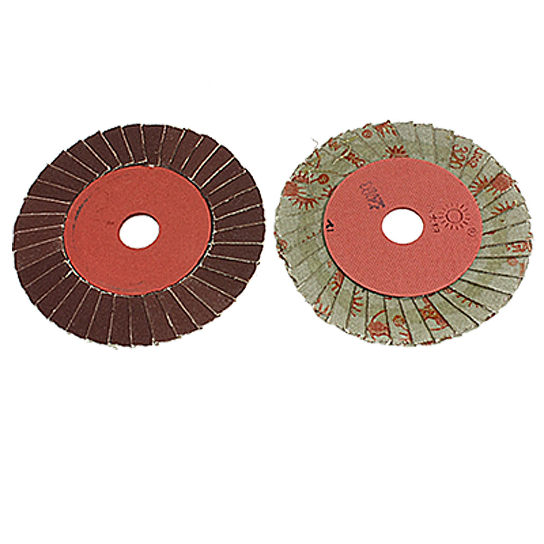 "2 Pcs 4"" Outside Diameter Grit Abrasive Flap Discs Polishing Buffing Wheels"
