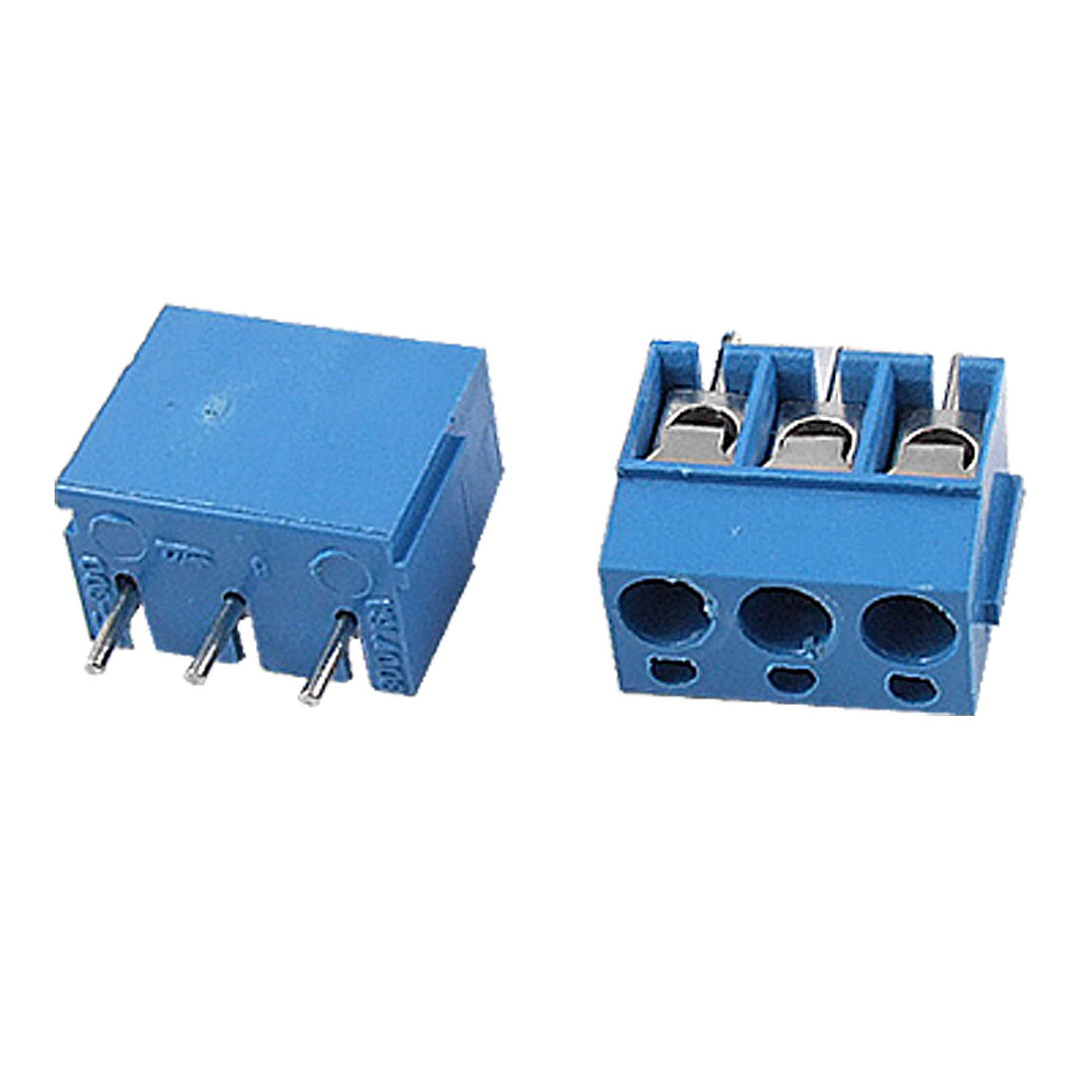 5 Pcs 3P 5mm Pitch Terminal Block PCB Connectors Blue