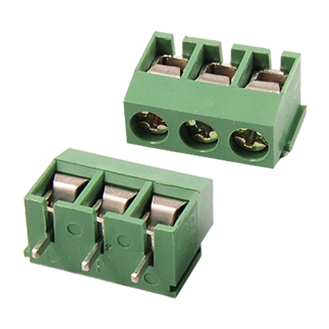 5 Pcs 3 Terminals 5.08mm Pitch Terminal Block PCB Connectors AC 300V 10A
