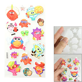 Phone Notebook Frame Cute Cartoon Animal Design 3D Foam Stickers Set