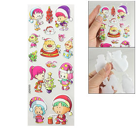 Phone Book Laptop Decor Christmas Party Design 3D Foam Stickers 1 Sheet