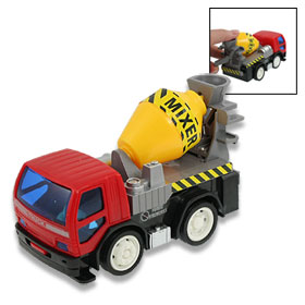 Colored Plastic Engineering Van Mixer Car Truck Toy for Kids