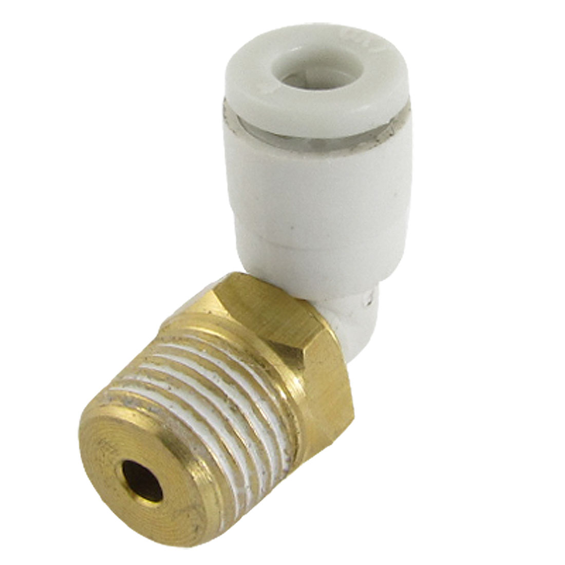 4mm OD Tube to 10mm Male Thread Pneumatic Connector Elbow Fitting