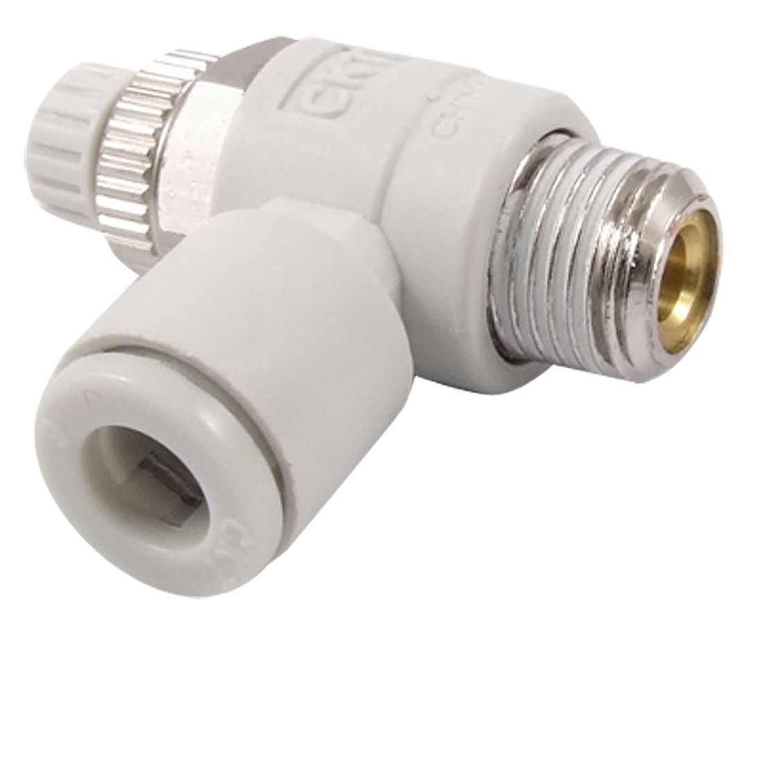6mm OD Tube Quick Connector 10mm Male Thread Speed Control Air Valve Throttle