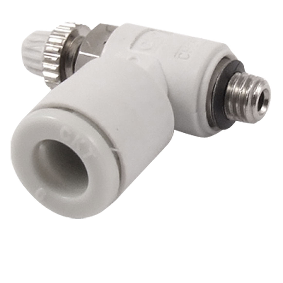 Pneumatic Flow Speed Control 6mm OD Push to Connect M5 Thread Air Valve