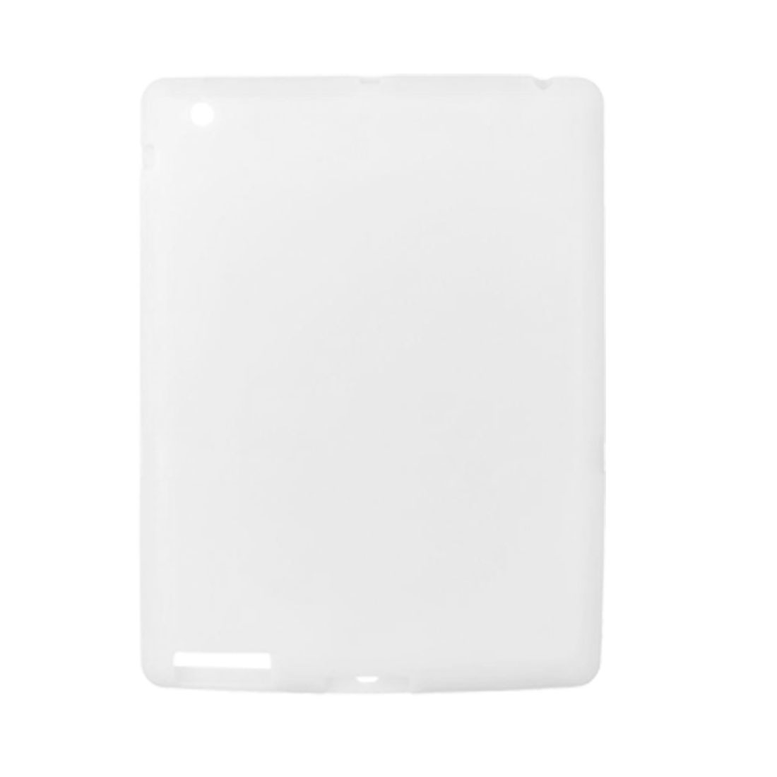 Clear White Silicone Skin Protective Case for Apple iPad 2