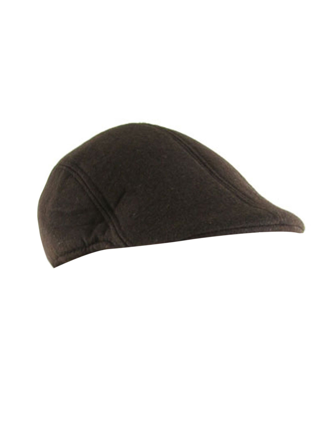 Woman Men Padded Flat Cabbie Hat Ivy Duck Cap Coffee Color