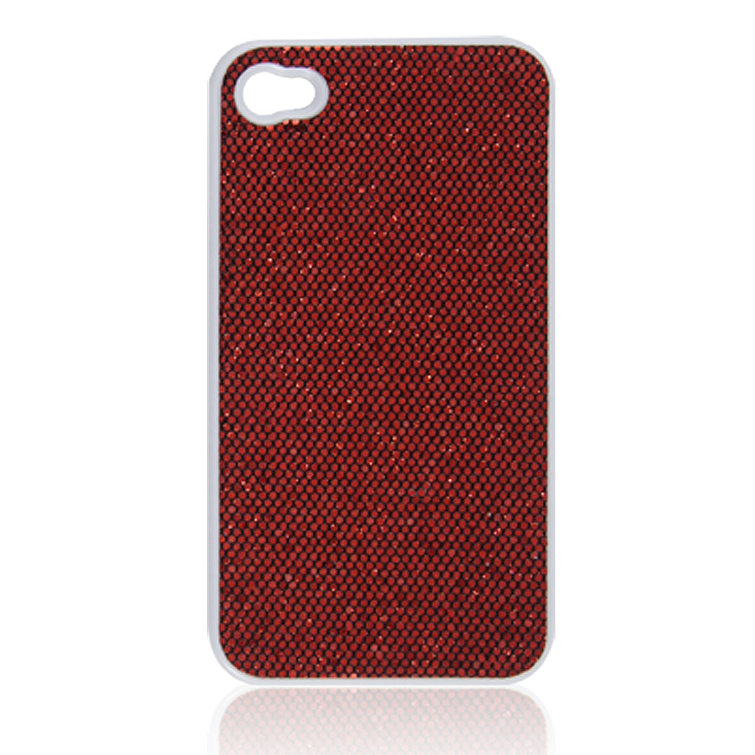 Hard Plastic Red Sequins Shining Shell Case for iPhone 4 4G 4S