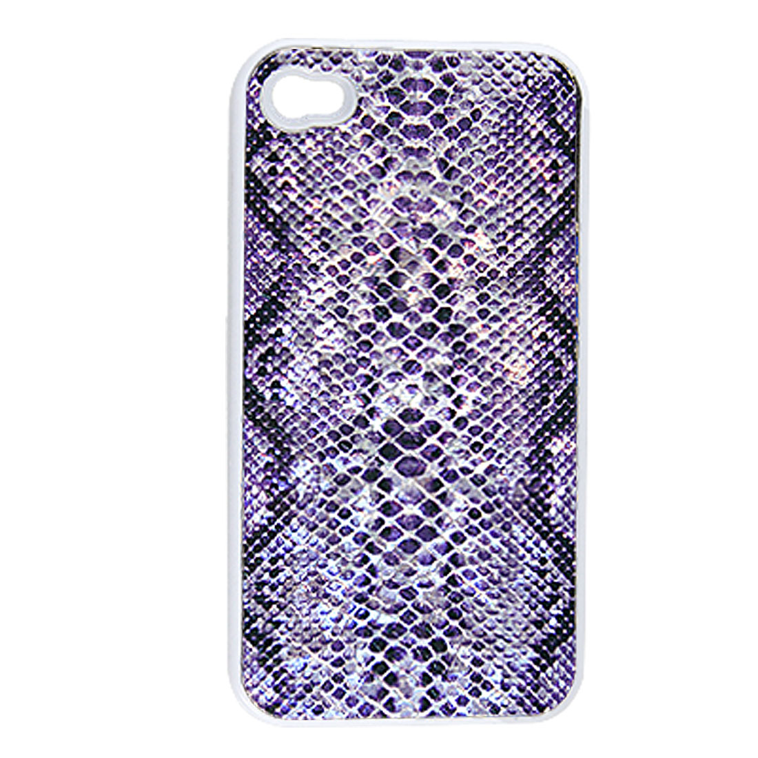 Purple Black Snake Pattern Hard Back Case for iPhone 4 4G 4S
