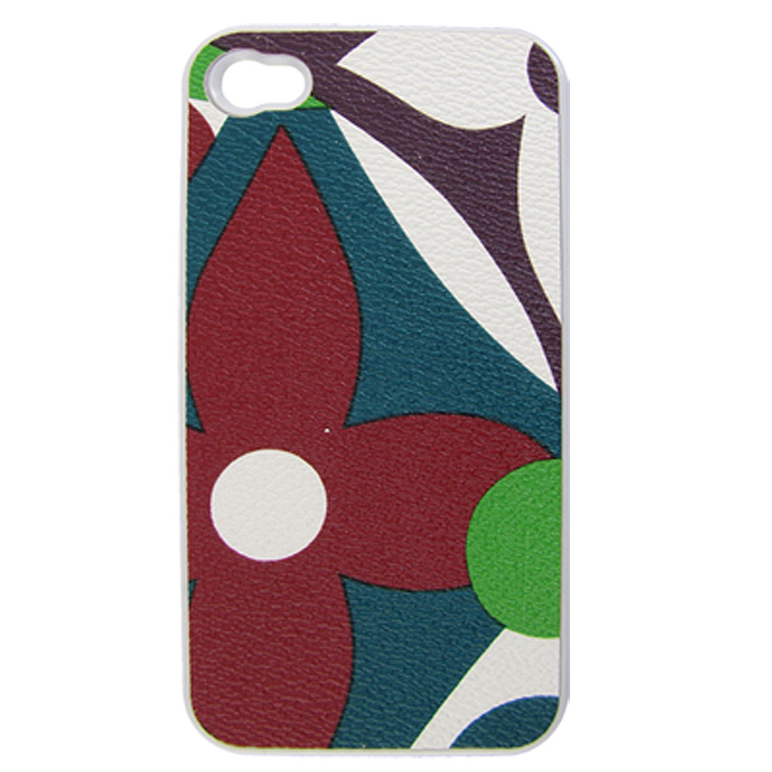 Red Blue Floral Hard Back Case Cover Protector for iPhone 4 4S 4G 4GS