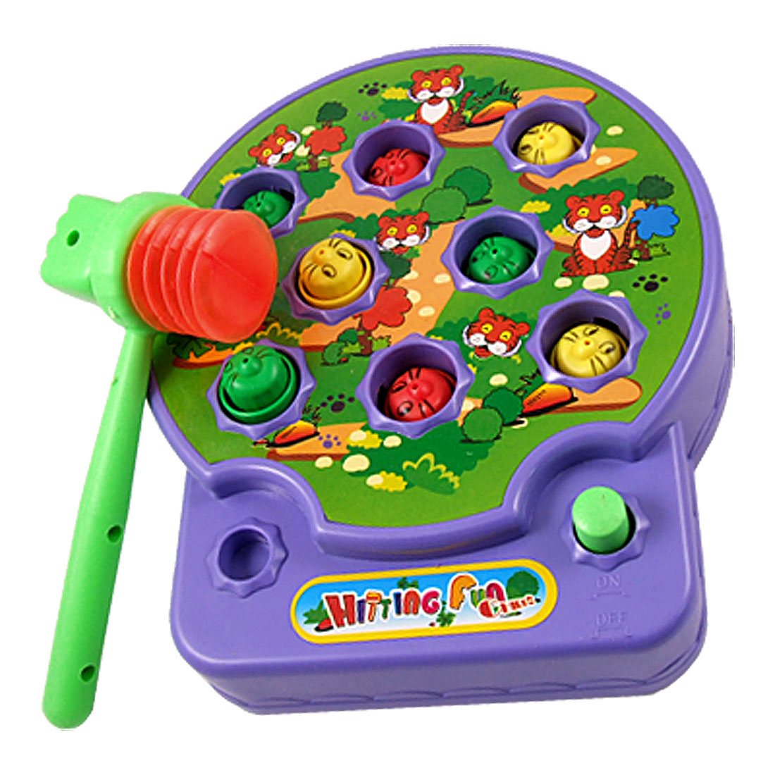 Electronic Music Sound Whack A Mouse Game Toy Purple for Children