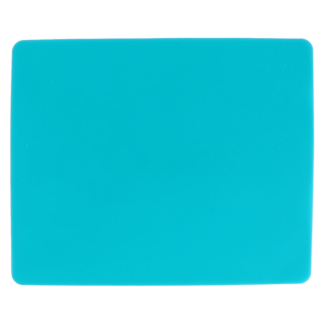 Rectangle Teal Silicone Nonslip Mouse Pad Mat for Computer