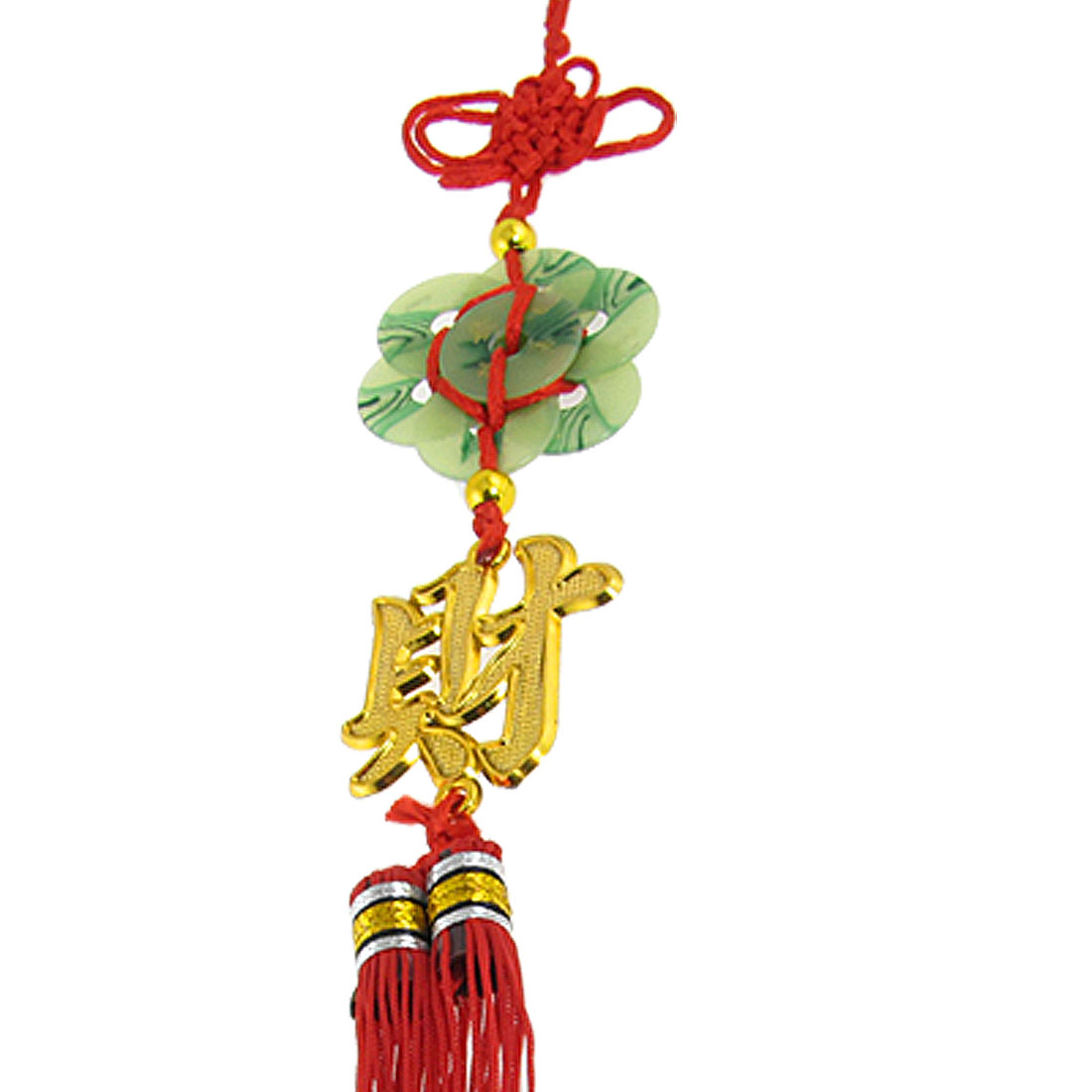 "15"" Car Auto Vehicle Home Faux Jade Tassel Chinese Knot Ornament Red"