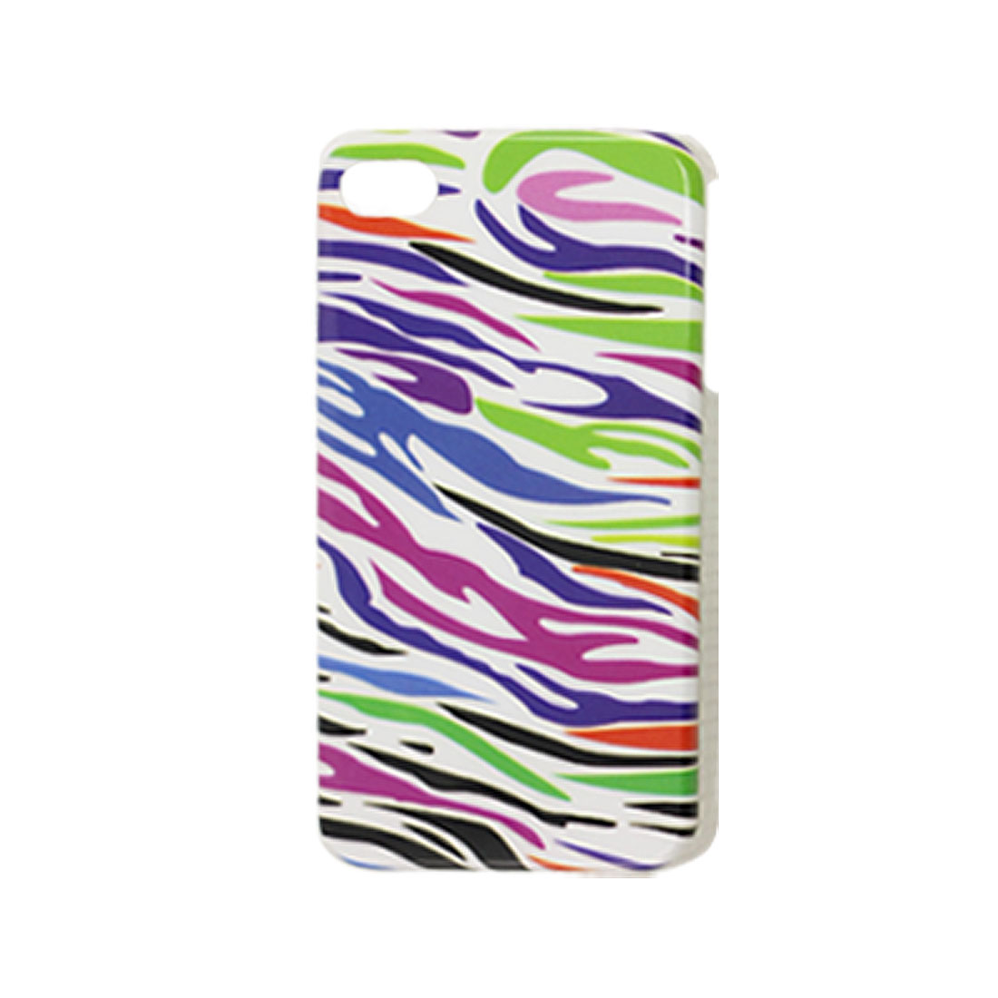 Colorful Zebra Stripe Print IMD Plastic Back Case for iPhone 4 4G 4S