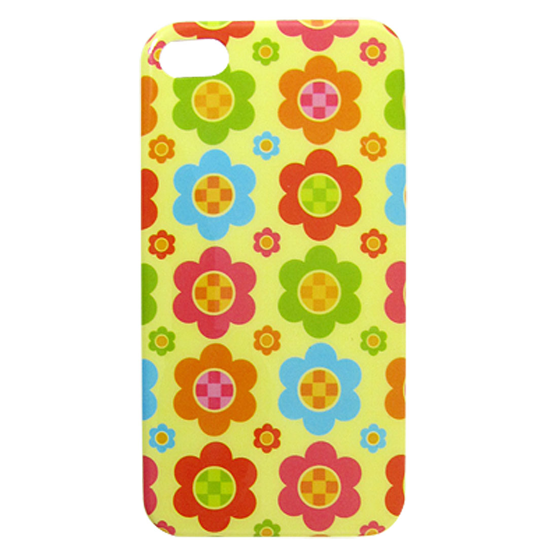 Multicolor Flower Pattern IMD Shell Back Case for iPhone 4 4G 4S