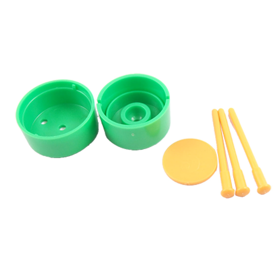2 Pack Magical Green Plastic Box Yellow Nails Thru Coin Props