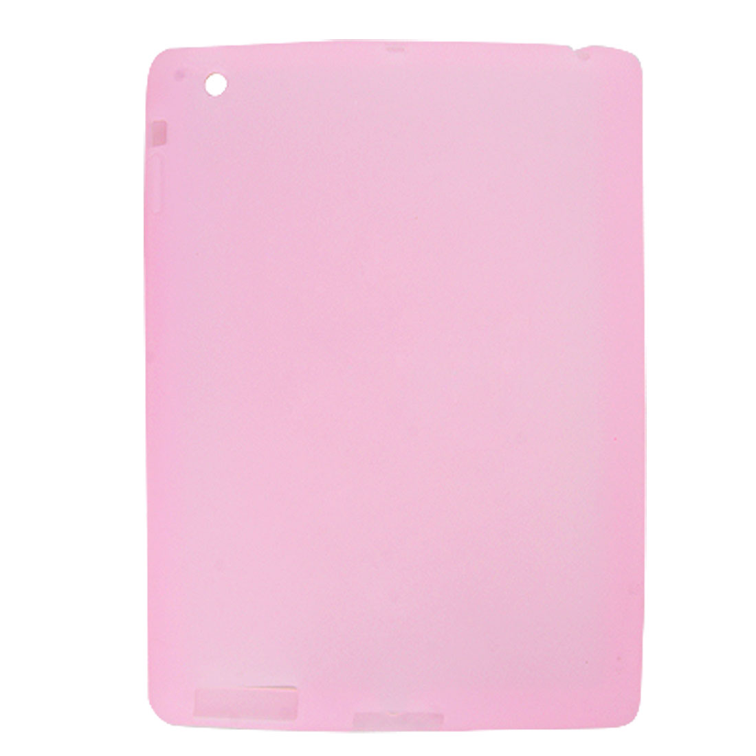 Anti Dust Light Pink Soft Silicone Cover Case for Apple iPad 2
