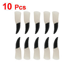 10 Pcs Halloween Props Soft Plastic Witches Devils Claw Fingernails White Black